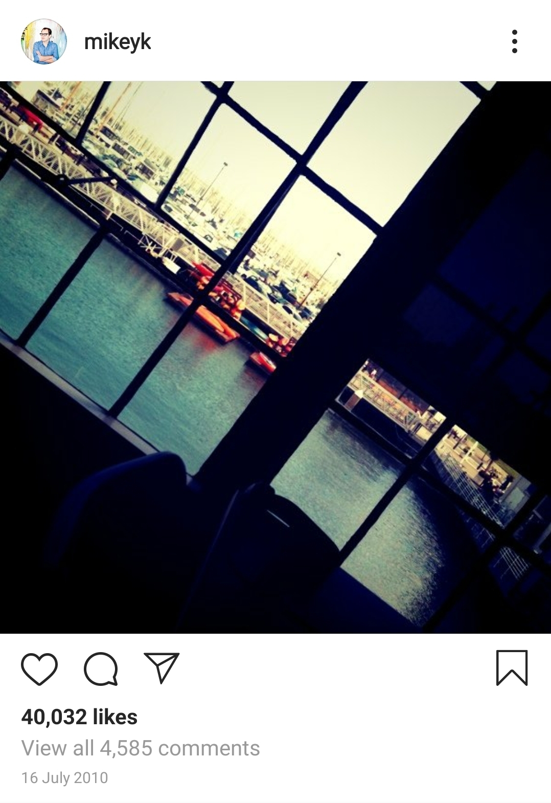 First ever Instagram post of San Francisco Pier 38 mikeyk