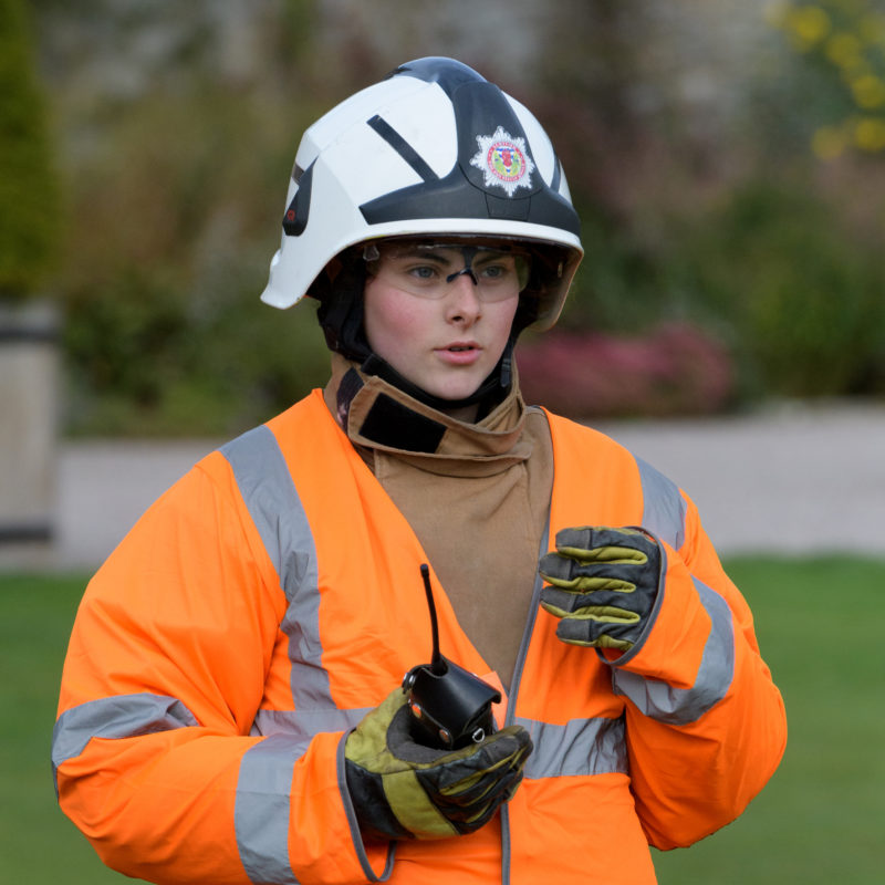 Gordonstoun Student in Fire Department Training