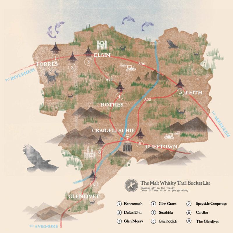 Malt Whisky Trail Map